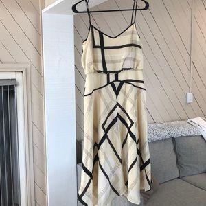 NWT, fall plaid dress, great waist line,